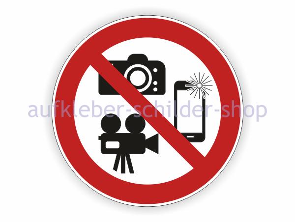 Filmen und Fotografieren verboten