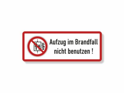 Aufzug im Brandfall nicht benutzen, Symbol