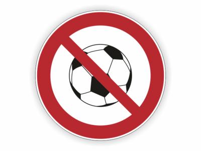 Ballspiele, Verbotszeichen , Ball