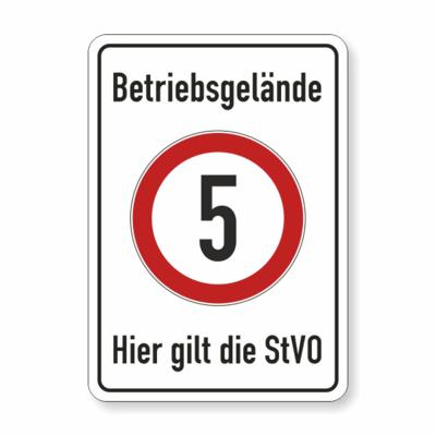 Betriebsgelände , 5 kmh Symbol, hier gilt die StVO
