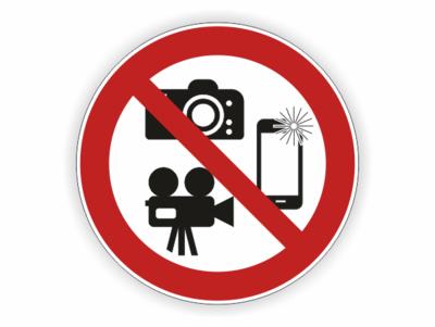 Handy, Kamera und Fotoapparat, rot ,schwarz, weiss,Verbotszeichen