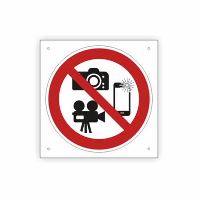Kameras, Verbotszeichen, Symbol rot-schwarz