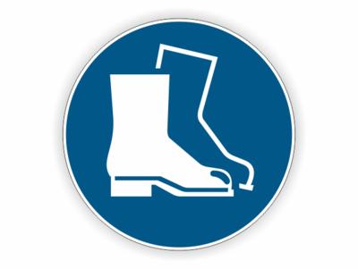 Fußschutz, Stiefel Gebotszeichen