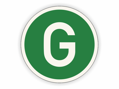 G auf grün