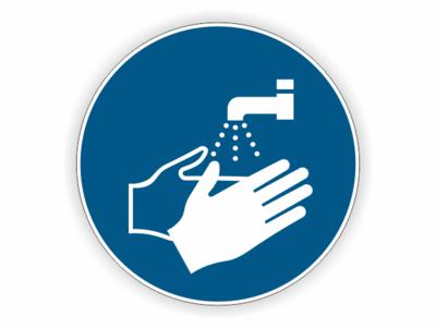 Hände waschen, Wasserhahn