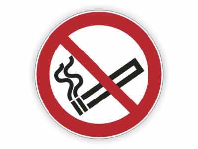 Verbotszeichen, Zigarette, rot, schwarz