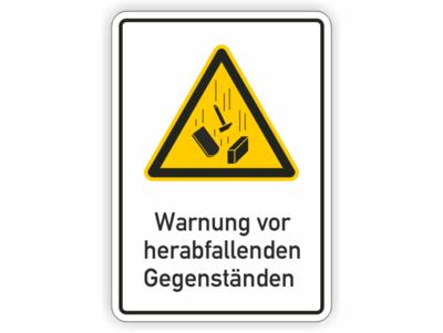 Warnung vor herabfallenden Gegenständen